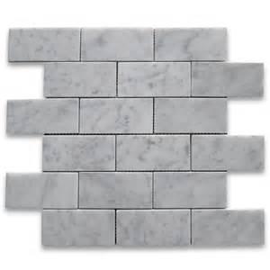 carrara white 2x4 grand brick subway mosaic tile honed marble from italy mosaics carrara white
