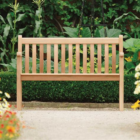 4ft garden bench alexander rose mahogany broadfield 4ft bench 163 247 5