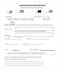 Credit Card Payment Form Template Pdf sle credit card authorization form 12 free documents