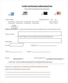 sle credit card authorization form 12 free documents