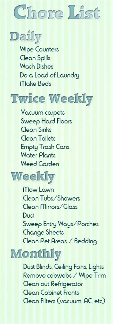7 Chores I Loathe by 25 Unique Chore List Ideas On Chore List For