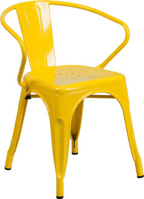 Yellow Arm Chair Design Ideas Outdoor Metal Retro Industrial Arm Chair