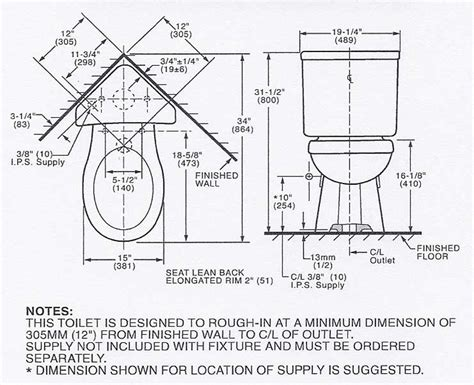 bathroom rough in measurements corner toilets dimensions images