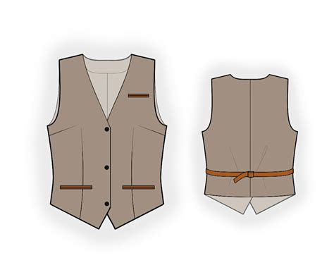 pattern waistcoat waistcoat sewing pattern 5954 made to measure sewing