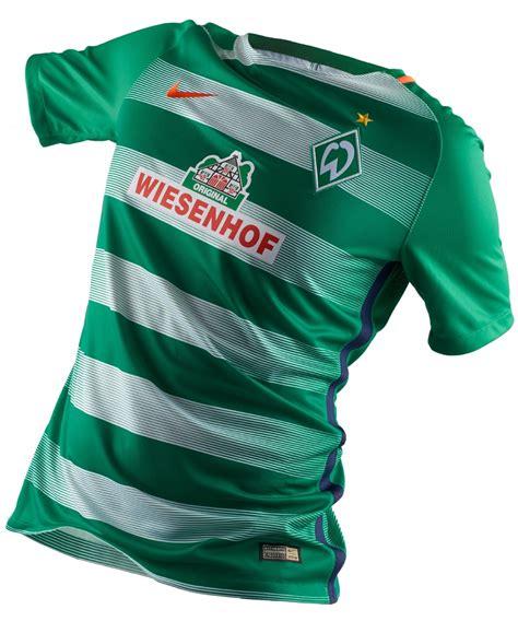 Jersey Werder Bremen Home Pi werder bremen 16 17 heimtrikot ver 246 ffentlicht nur fussball