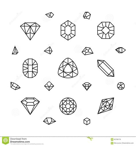 s gems coloring book books geometric 3d shapes gems thin line