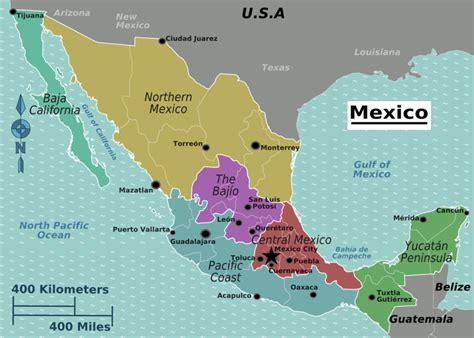 map of mexico major cities mexico map major cities