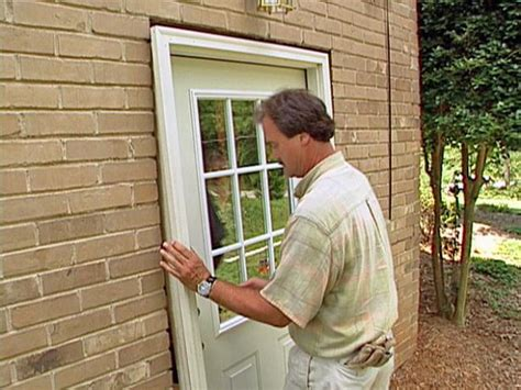 How To Install A New Front Door How To Install A Pre Hung Exterior Door How Tos Diy