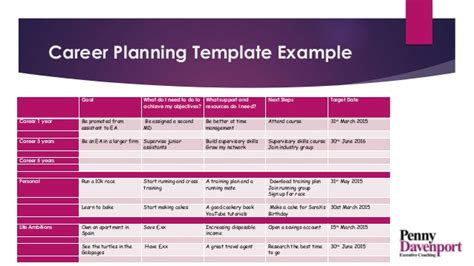 5 year career plan template a career path and plan putting moving on up into practice