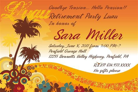 template retirement party invitation template word free templates