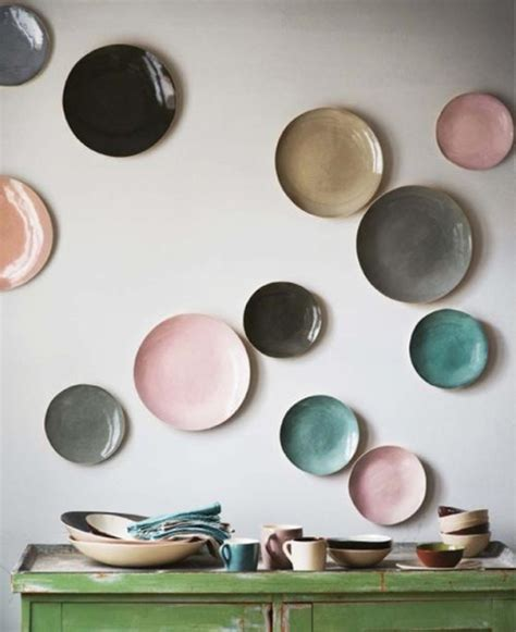 pareti colori diversi decorare le pareti con i piatti architettura e design a