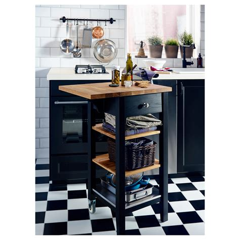 ikea stenstorp kitchen island stenstorp kitchen trolley black brown oak 45x43x90 cm ikea