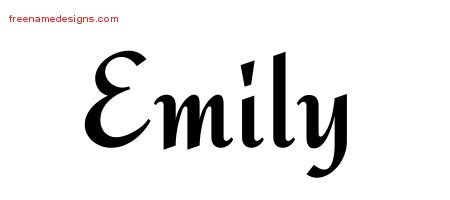 tattoo font emily calligraphic stylish name tattoo designs emily download