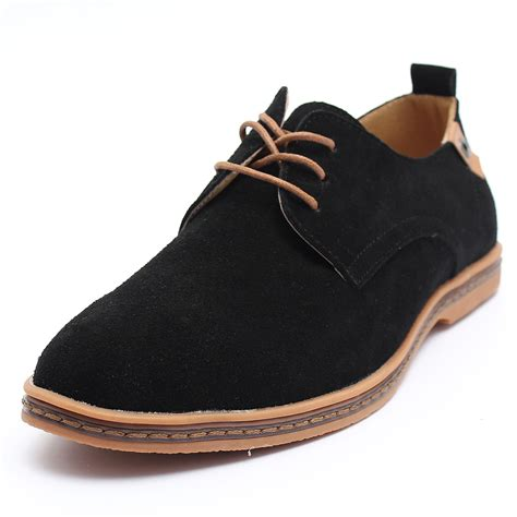 casual oxfords mens shoes suede leather shoes s dress formal oxfords lace up