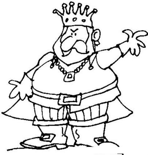 dibujos para colorear de coronas dibujo de rey con capa y corona para pintar y colorear