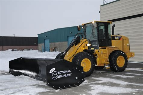 Sectional Snow Plow by Cat Loader With Sectional Sno Plow Arctic Equipment