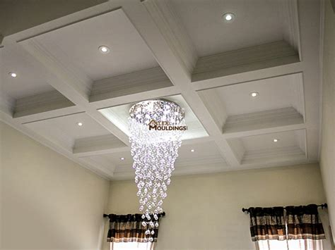 coffered ceiling lighting 17 special coffered waffle ceilings house look so