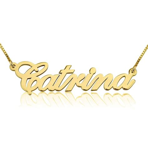 14k gold classic name necklace personally preppy