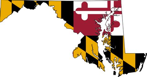 file flag map of maryland svg wikimedia commons