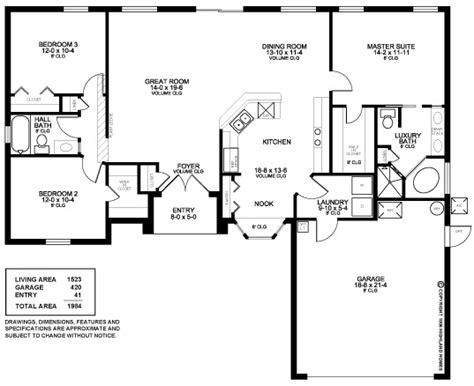3 bedroom 2 bath 2 car garage floor plans 1000 images about house plans on pinterest craftsman monster house and first story