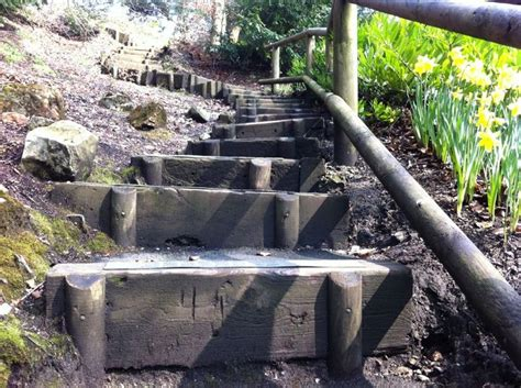 Used Railway Sleepers Melbourne by 17 Best Ideas About Sleeper Steps On Gabion