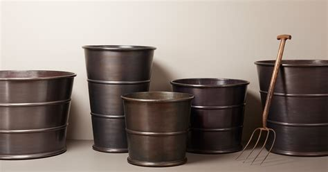 hand craft solid copper pots  zinc planters bronzino