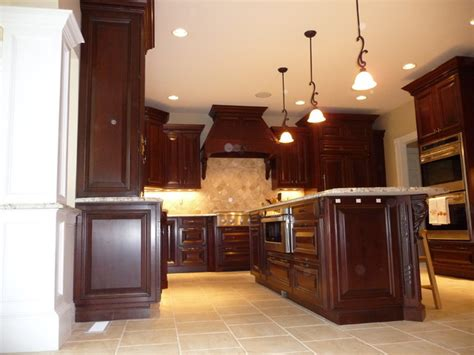 photos of cherry kitchen remodels dark cherry kitchen remodel before after traditional