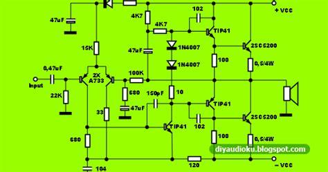 Power Lifier Kecil power lifier ocl 100 watt cocok untuk luar ruang atau subwoofer skema rangkaian elektronika