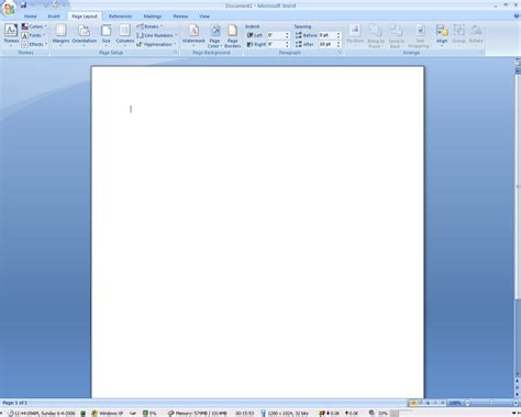 word layout one page word pagelayout