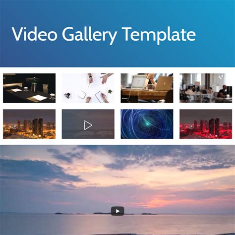 Template Gallery by Free Html Bootstrap 4 Gallery Template