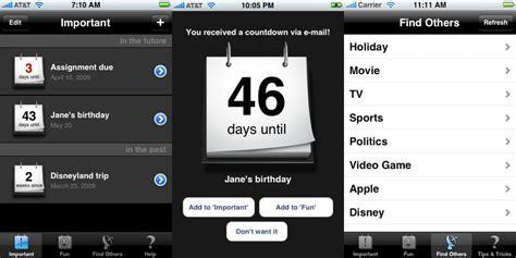 Countdown Calendar App Iphone Kalender Iphone Kalender Apps
