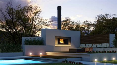 Home Decor : Outdoor Fireplaces Ideas With Modern Concept