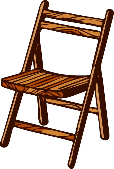stuhl clipart wooden folding chair clip at clker vector clip