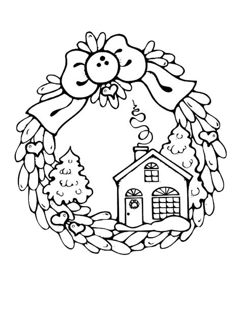 free christmas and winter coloring pages