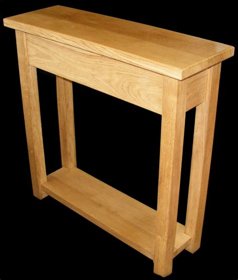 handmade solid oak console table
