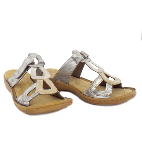 metallic sandals uk rieker sandals kendal metallic faux leather