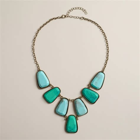 Turquoise Statement Necklace turquoise tonal statement necklace world market