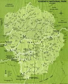 map yosemite california yosemite national park map map2