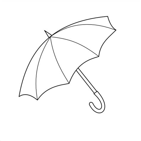 free printable umbrella template sle umbrella template 7 free documents in pdf