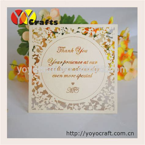 Custom Kartu Souvenir Wedding Thanks Card Ucapan Terima Kasih 6 aliexpress buy laser cut wedding decorations unique personalized thank you cards for