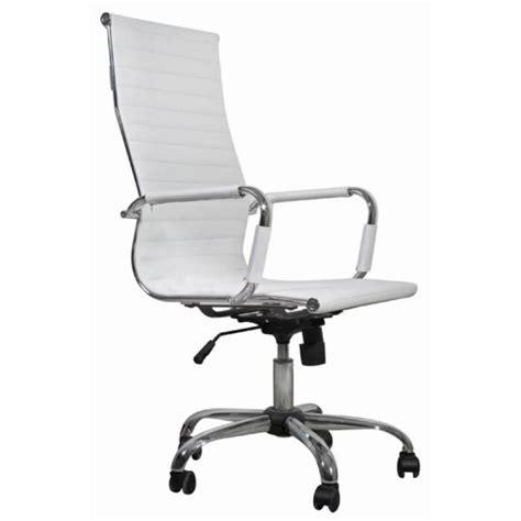 chaise de bureau cuir chaise de bureau simili cuir blanc dossier haut achat