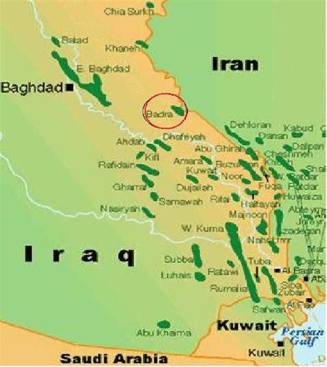 map of iraqi fields iraq field map