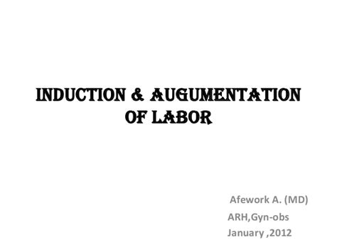 self induction of labor induction of labor