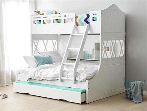 Snow Bunk W Trundle Cream Bedroom Furniture Forty Winks Forty Winks Bunk Bed