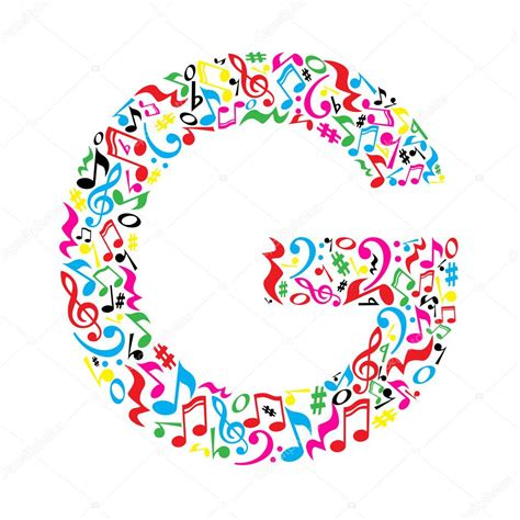 note musicali in lettere letter made of musical notes stock vector 169 inspiring