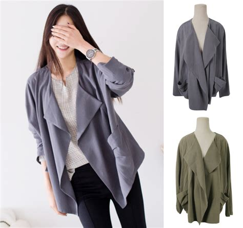 Outerwear Outer Cardigan free shipping cardigan jacket outerwear outer grey green khaki autumn fall jumper stylish