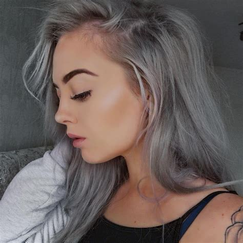 hair grey hairstyles for grey hair popsugar australia