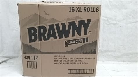 Who Makes Brawny Paper Towels - brawny a size paper towels 16xl rolls ebay