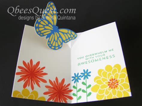 how to make a thank you pop up card qbee s quest easy butterfly pop up card