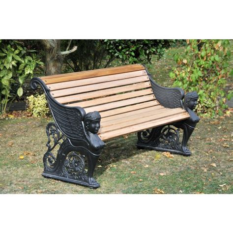black garden bench uk lady amphora garden bench black country metal works